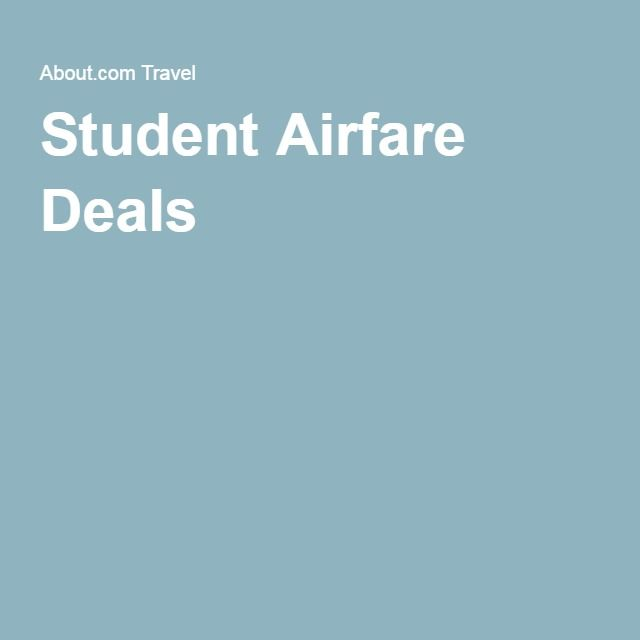 Student Airfare Deals