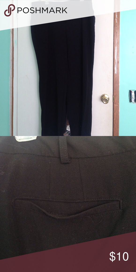 Black Dress Pants Sleek black dress pants for dressier occasions. Size 18. Back pockets are false. Has small front pockets. Barcelona Fit style. George Pants Trousers