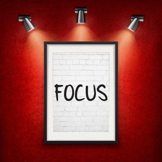 FOCUS Inspirational Quote DIGITAL DOWNLOAD от MotivationalThoughts