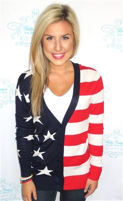 Old Glory Cardigan $47 Size Med.