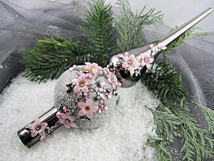NovemberLicht Christbaumspitze, dunkelgrau rosa  von Queensmade auf DaWanda.com