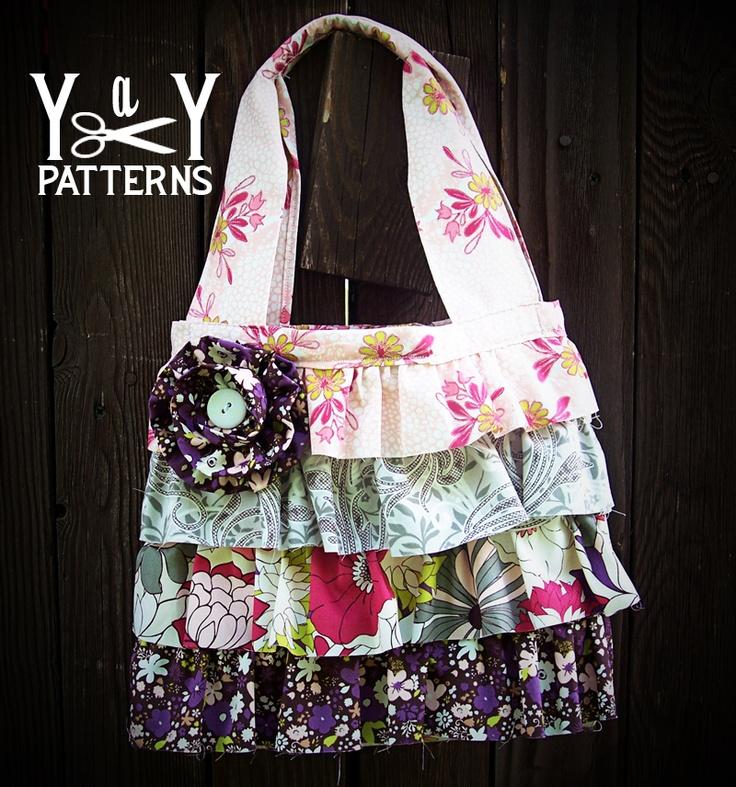 Ruffled Hand Bag Pattern