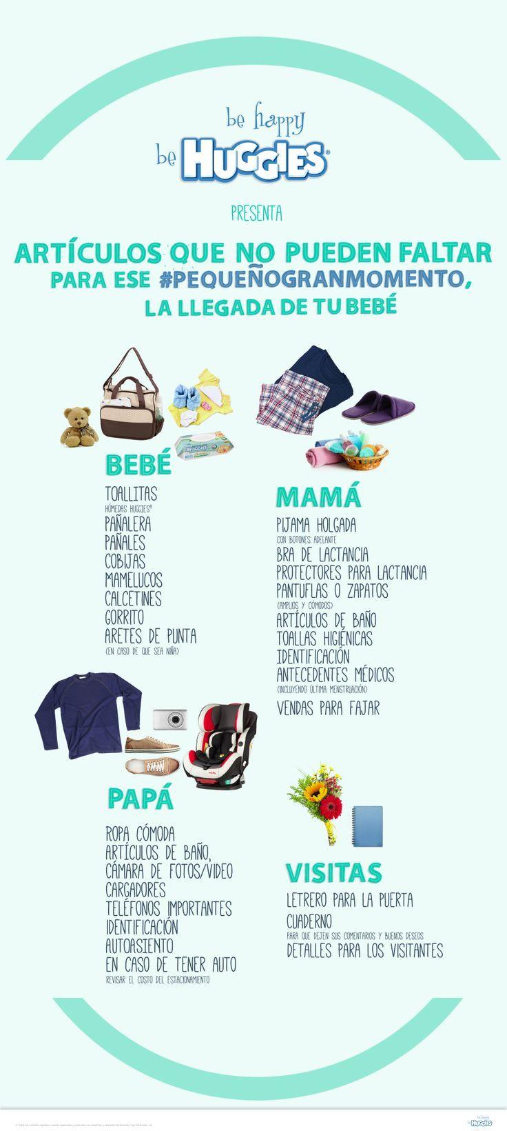 Conoce los artículos que no pueden faltarte a la hora de recibir a tu #bebé. https://www.huggies.com.mx/site/Cuidados/