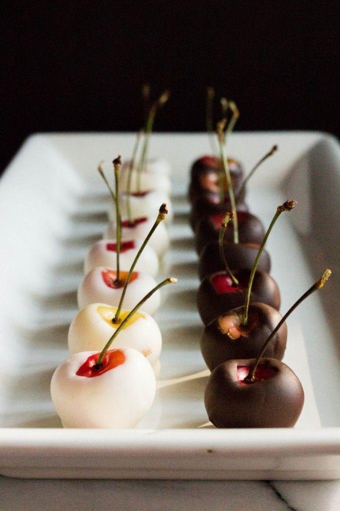 White and Dark Chocolate Dipped Rainier Cherries | The Fruit Company® Blog