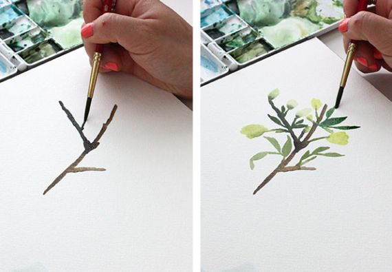 Watercolor Tutorial Part 3: Mark Making   The Alison Show