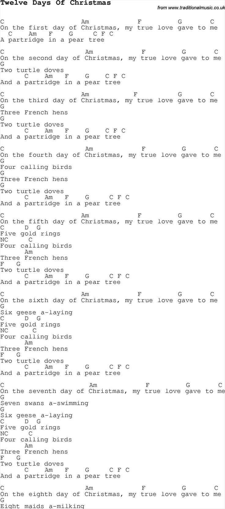 Best 25 christian songs list ideas on pinterest black hole sun new post 12 days of christmas song list hexwebz Gallery