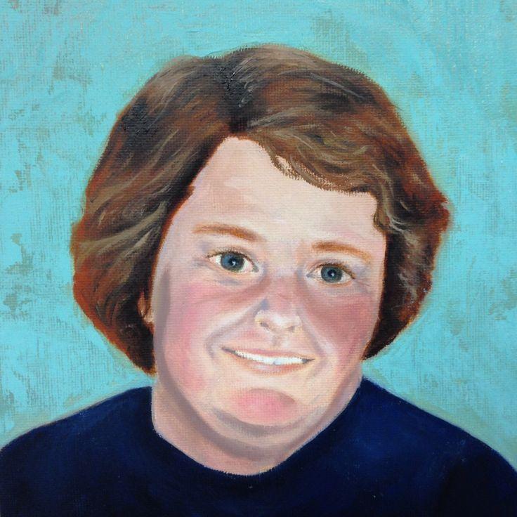 Oil on Board Portrait of a friend by maryrosenakamurafineart@gmail.com
