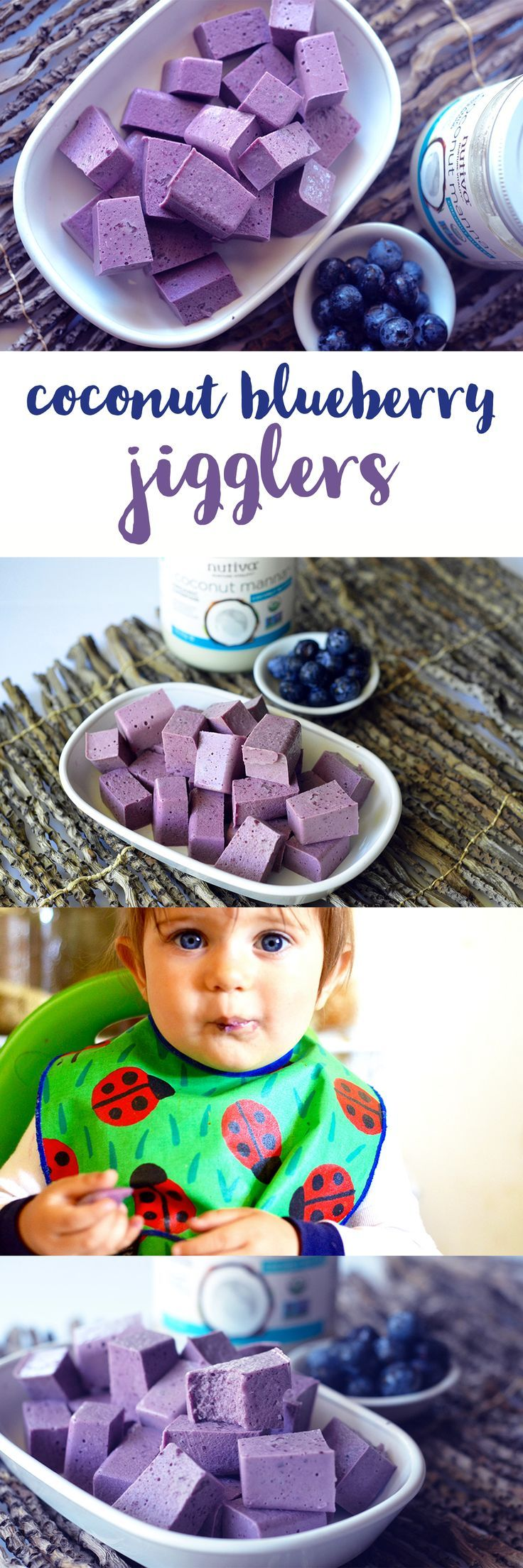 Don't forget some sweet treats for the kiddos this season! These blueberry coconut jigglers are sure to do the trick.