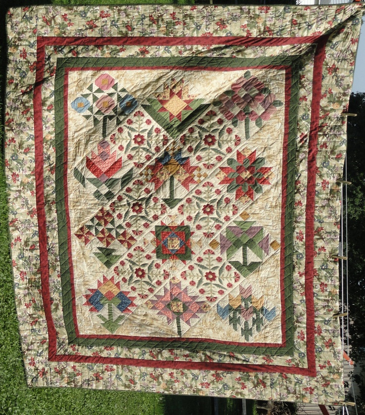 A Quilters Garden Handmade Queen Quilt With Original Thimbleberries  Fabrics. $2,900.00, Via Etsy.