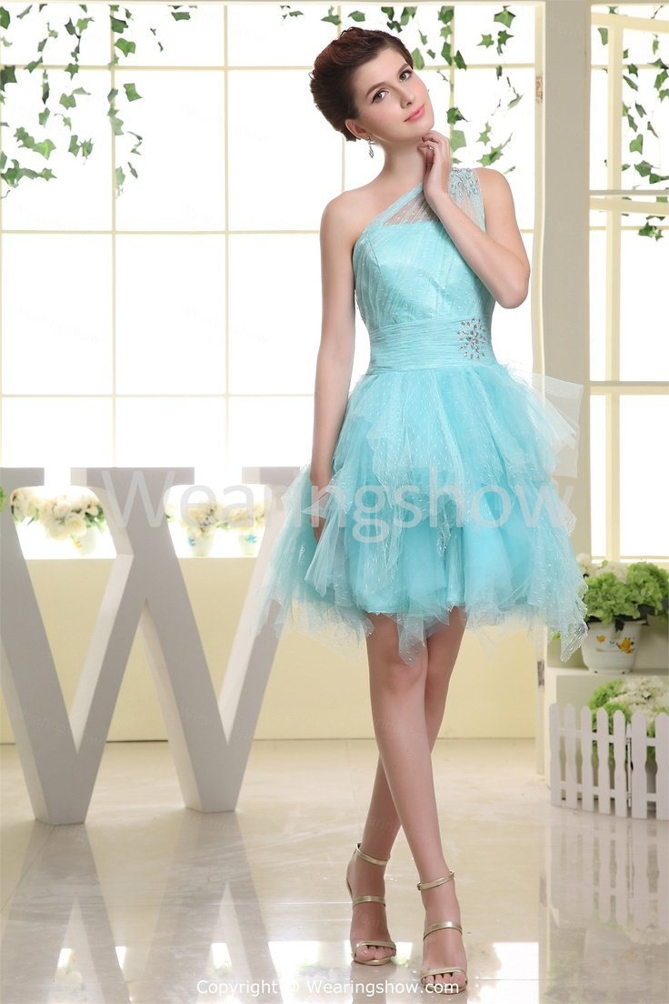 Atria 8000 asymmetrical cutout sleeve cocktail dress by atria 1 1 - Blue Quinceanera Short Satin One Shoulder Dresswholesale Price Us 129 99 Beading Cocktail Dresscocktail Dressesgraduation