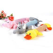 Plush squeaky toy $8.00