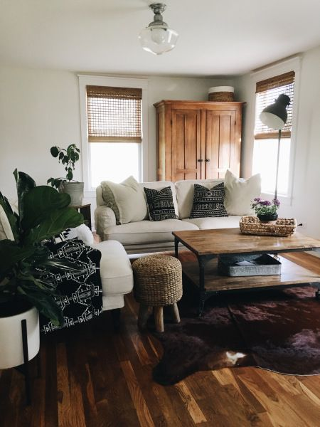 Living Room Updates With Rugs USAs Homegrown Cowhide RR01