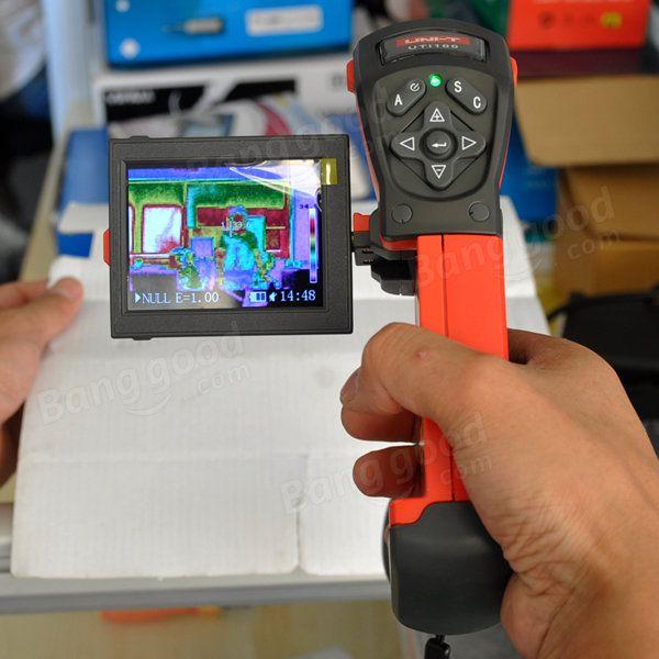 UNI-T LCD de la cámara termográfica infrarroja termómetro infrarrojo visual TFT uti160a 2.5 pulgadas portátil Sale - Banggood Móvil