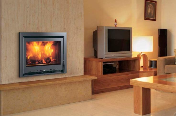 10 best estufas de le a images on pinterest fire places - Chimeneas con cassette ...