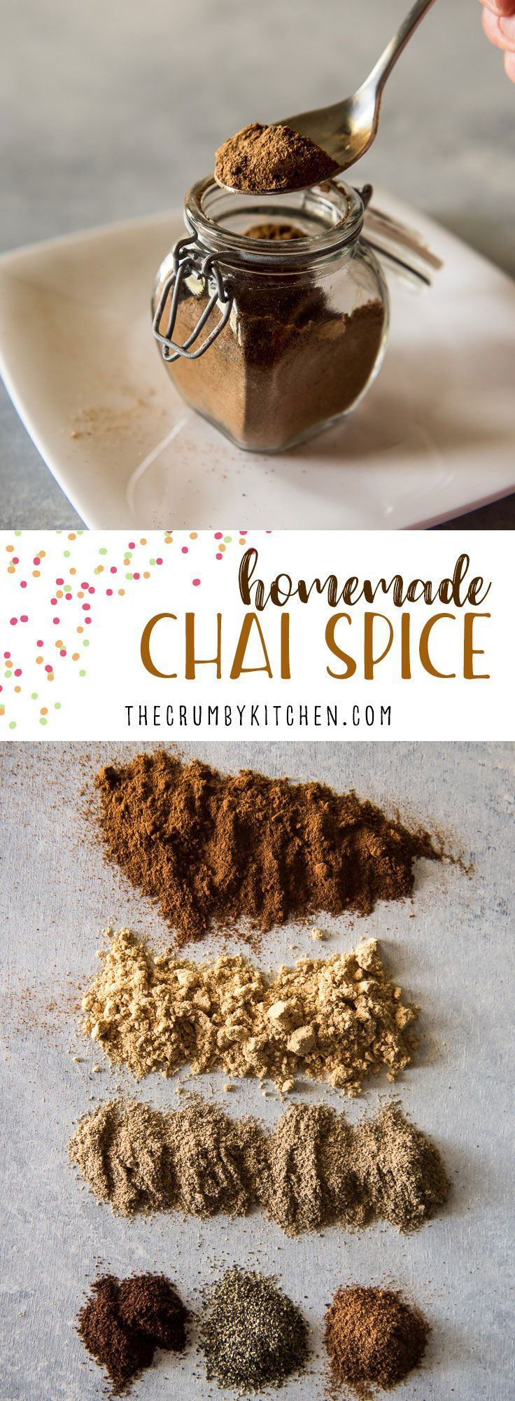 A versatile spice blend inspired by an Indian tea variety, this homemadechai spicemix can also be used on toast, in baked goods, or as a unique meat rub.