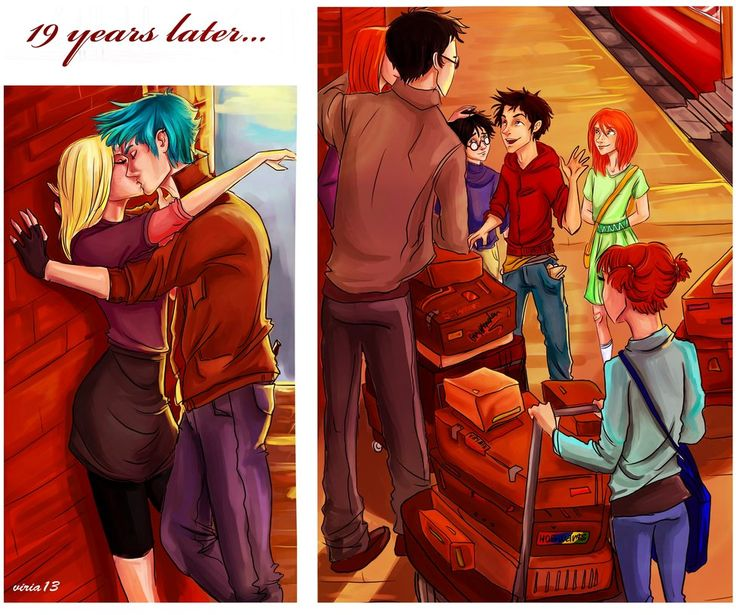 19 years later scene from the last part of deathly hallows... by *viria13