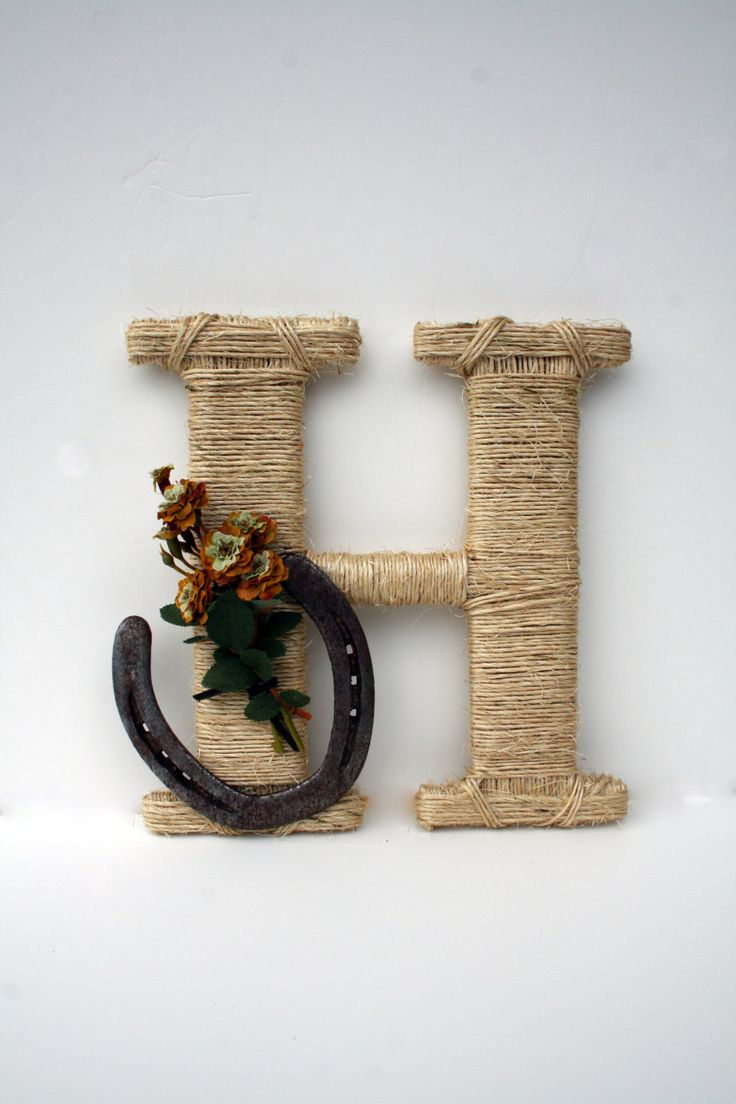 Rustic Wrapped Letter H Rustic Letter Country by DreamersGifts, $35.00: