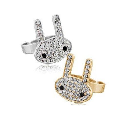 Cute full diamond ring ring animal ring retro ring