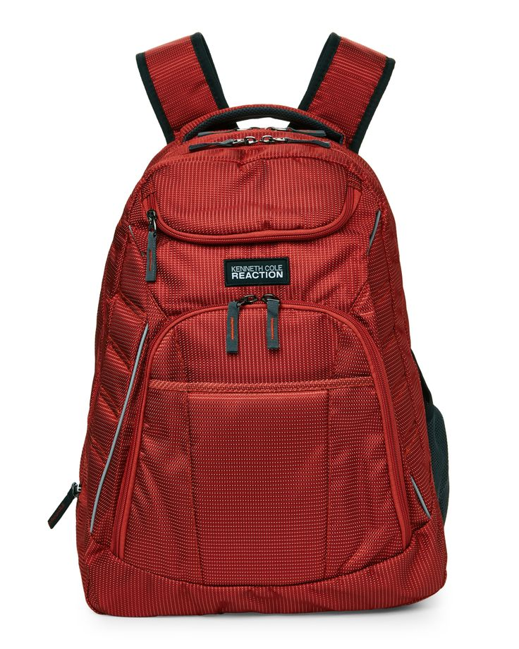 Kenneth Cole Reaction Orange R-Tech Expandable Laptop Backpack