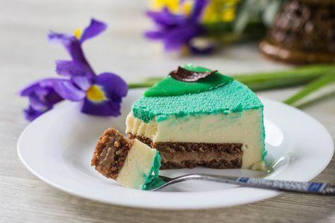 Мятный муссовый торт с лаймом и шоколадом - необычно и очень вкусно! Пошаговый рецепт, МК по сборке муссового торта в кольце и цветной шоколадный велюр!