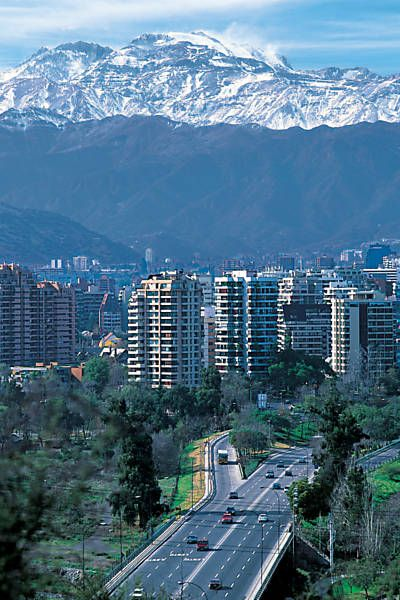Santiago, Chile. This is the view as you drive into the city from the North…