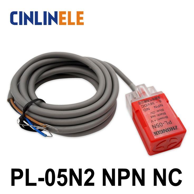 PL-05N2 5mm sensing DC NPN NC Cube shell inductive Screen shield type proximity switch LP05 proximity sensor 17*17*35