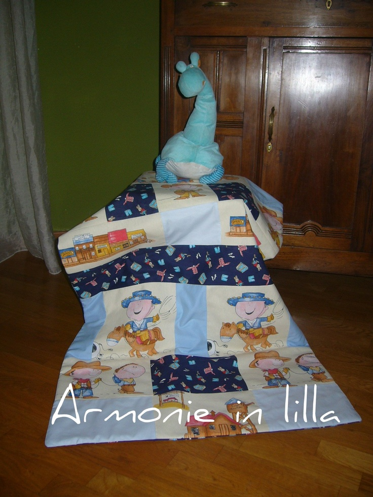 Trapunta cowboy per bambino Quilt for a baby cowboy