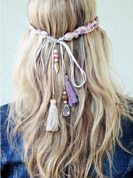 Headband: Idea, Hairstyles, Hair Styles, Hippie, Head Band, Boho, Beauty, Hair Accessories