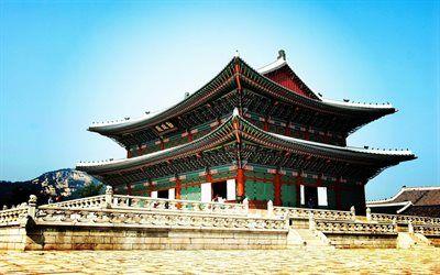 Scarica sfondi Gyeongbokgung Palace, castello, Seoul, Corea del Sud, Asia