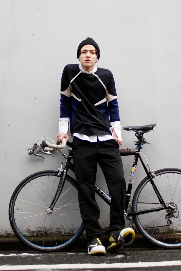 Area5:Harajuku,Tokyo(原宿、東京) Name:橋本 丞生 Age:22 Top:Nyte(DROP Superstore) Shirt:Nyte Pants:Nyte Shoes:NIKE Cap:Jil Sander Favorite shops:KINSELLA,XANADU Hair salon:ULTRA C Tokyo street Fashion Snap Date: 01 Mar 2012