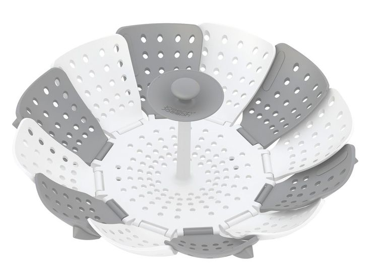 Joseph Joseph 40024 Lotus Plus Folding Non-Scratch Steamer Basket, White
