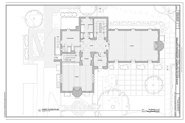 First Floor Plan Alpha Rho Chi Fraternity House 1108 South First Street Champaign Champaign County Il Fraternity House Floor Plans Champaign
