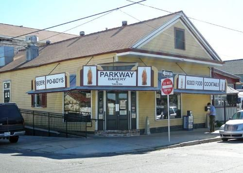 Parkway Bakery and Tavern, home of the amazing Surf 'n Turf PoBoy. A favorite place of mine in Mid City, New Orleans - http://www.parkwaypoorboys.com/