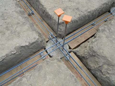 Foundation grade beams silicon valley zero energy home for Wood piling foundation cost