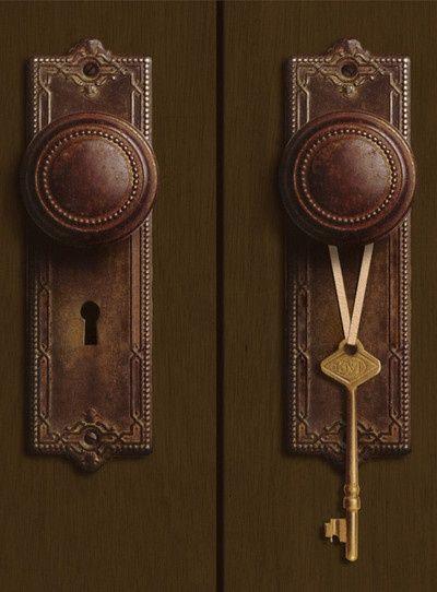 pomos marrón de puerta marrón---brown brown door knobs