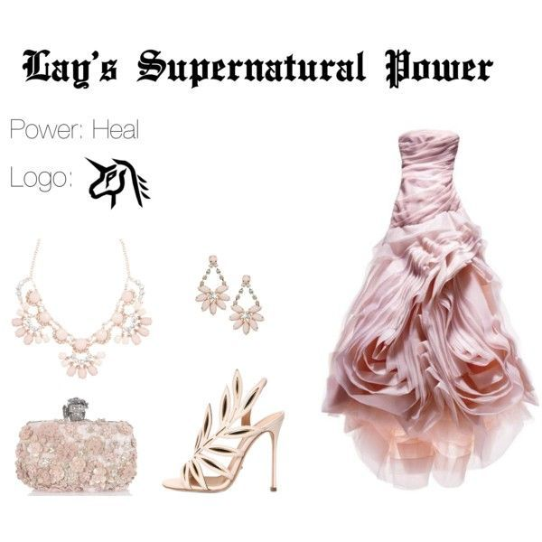 EXO Lay Supernatural Power Inspired Outfit by nanrelladu on Polyvore featuring polyvore fashion style Sergio Rossi Jenny Packham Miss Selfridge Alexander McQueen