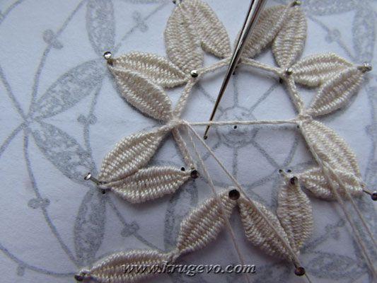 Плетение снежинки с насновками Елена Русакова(её страница)