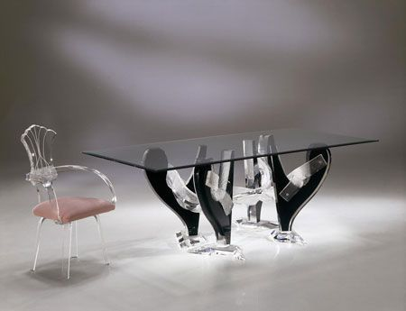 Exceptional SNAKE DINING TABLE BASE By Shahrooz Shahrooz Art.com   #AcrylicFurniture, #