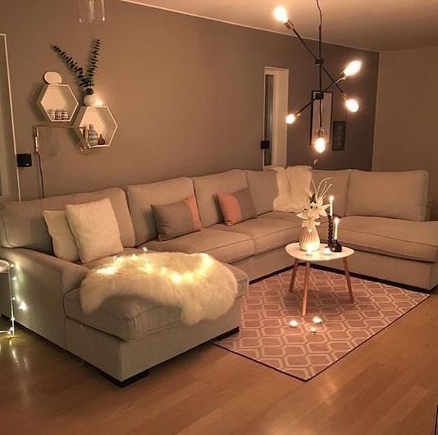 Pinterest Xokikiiii Simple Living Room Apartment