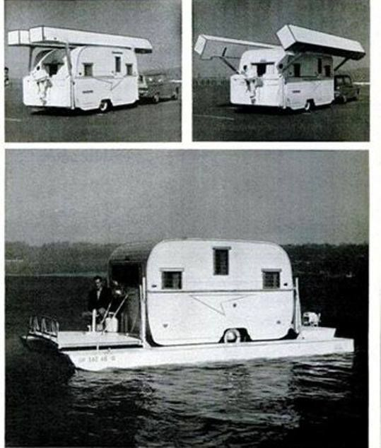 vintage amphibious rv travel trailer