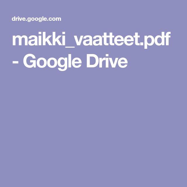 maikki_vaatteet.pdf - Google Drive