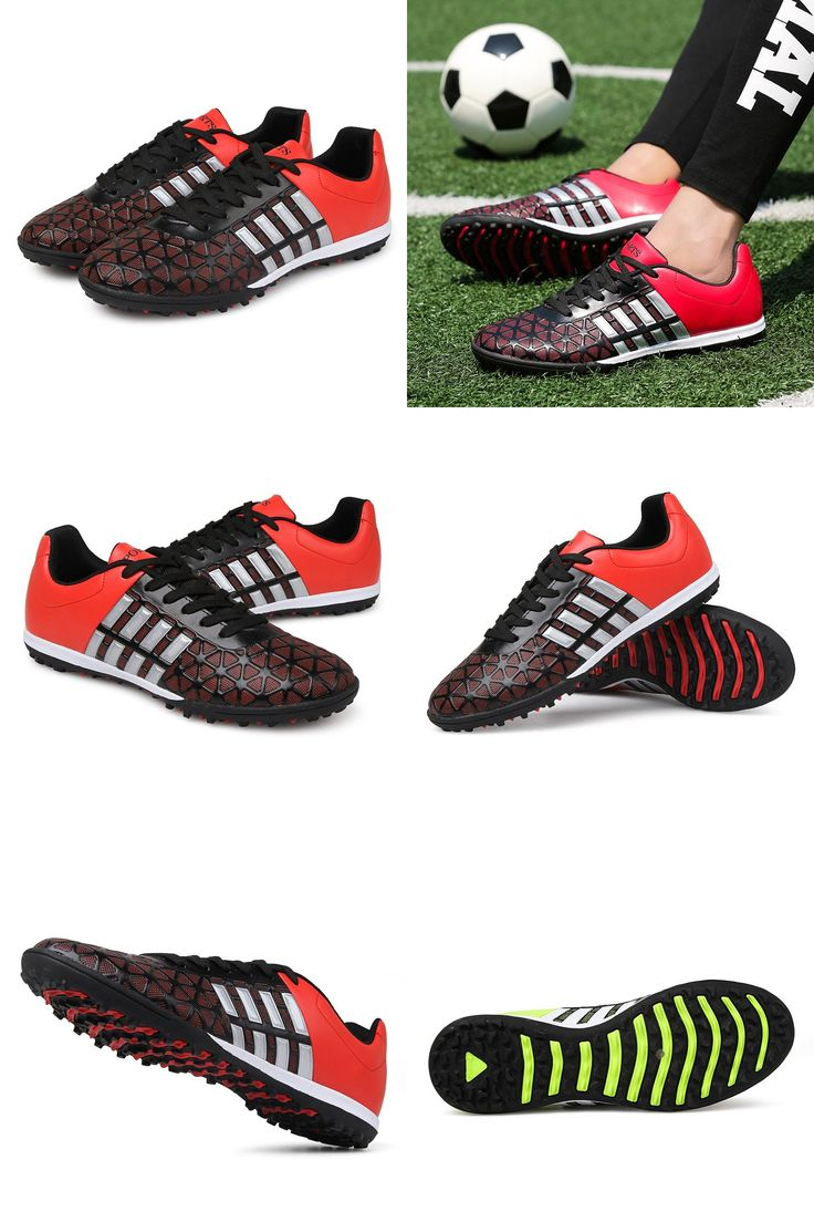[Visit to Buy] 2016 Professional Outdoor Soccer Shoes Men TF Turf Sole Football Boots Athletic Training Sneakers Sports Shoes zapatos de futbol #Advertisement
