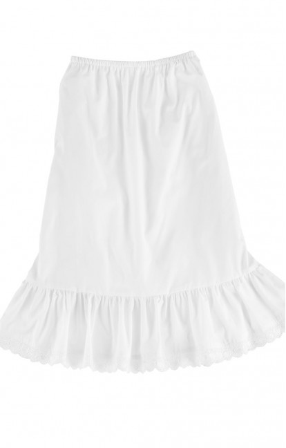 German Trachten Short UNDERSKIRT U15 white