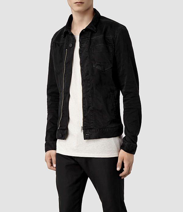 Homme Basalt Denim Jacket (Black) | ALLSAINTS.com