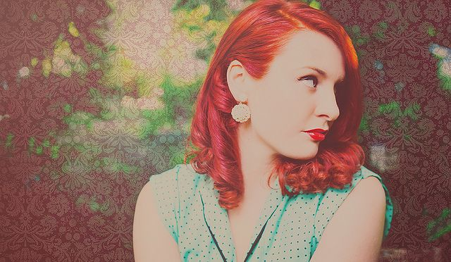 tia brazda | portrait | musician | red hair & polka dots ~ jennifer picard photography {creative boutique photography}