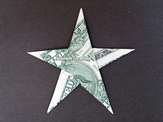 STAR Money Origami Art Dollar Bill Cash Sculptors Bank Note Handmade