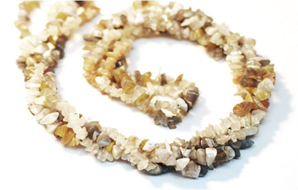 "2 Strands Mix Moonstone Chips Beads Strands, Jewelry Making Chips, 36"" Long #luctsa"