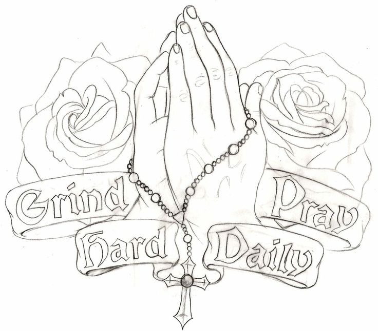 Praying Hands Tattoo 4 by ~Metacharis on deviantART