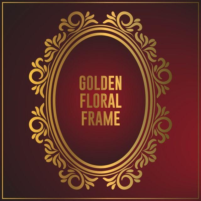 زخرفة ذهبية بيضاوية فاخرة الإطار تصميم خلفية الإطار الذهب مع زخرفة الأزهار الفاخرة ذهبي الإطار ذهب Png والمتجهات للتحميل مجانا Ornament Frame Background Design Frame Design