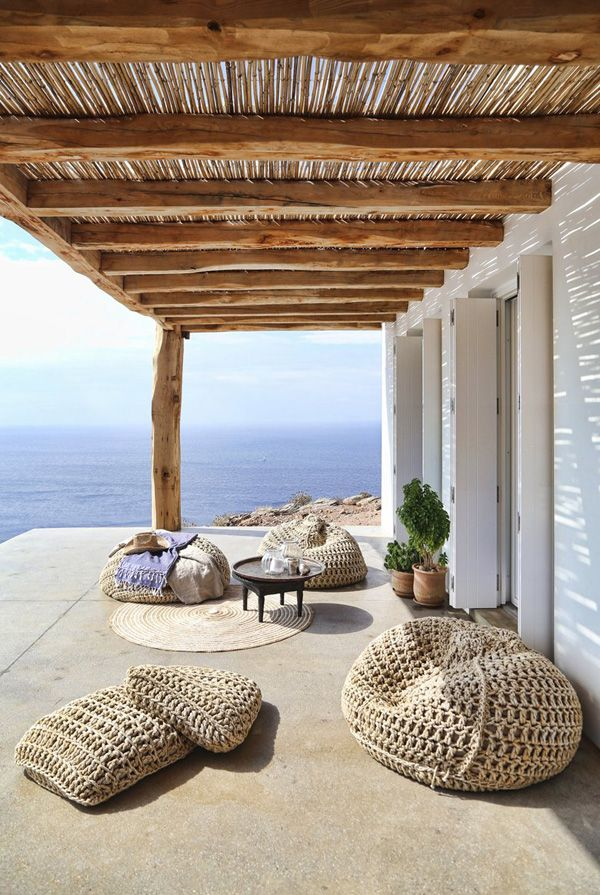 Situated on the island of Syros in Greece this dream holiday home sits in the most breathtaking spot overlooking the bay of Plagia.